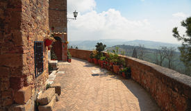 Walls of Pienza, Tuscany, Italy Royalty Free Stock Image