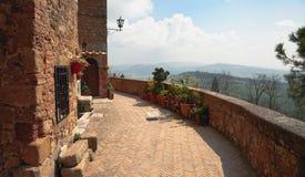 Walls of Pienza, Tuscany, Italy Royalty Free Stock Image
