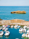 Walls of the port at Biarritz, Basque Country Stock Photos