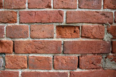 Walls of red brick Stock Images