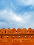 Walls of Red Fort at sunset, in New Delhi, India Stock Photos