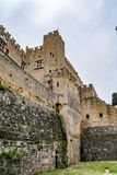 Walls of Rhodes old town and moat near the Palace of the Grand Master, Greece Stock Image