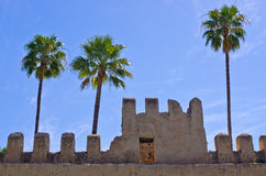 Walls of riad in Morocco Royalty Free Stock Photos