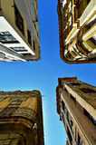 Walls,Roofs and Sky Royalty Free Stock Images