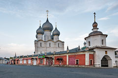 The Walls of the Rostov Kremlin, Russia. Royalty Free Stock Image