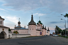 The Walls of the Rostov Kremlin, Russia. Royalty Free Stock Photos