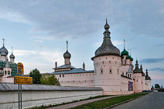 The Walls of the Rostov Kremlin, Russia. Stock Images