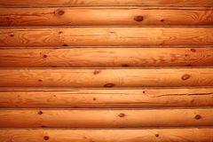 Walls of round logs. Beautiful walls of round logs Royalty Free Stock Images