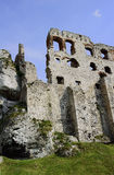 The walls of the ruined castle Royalty Free Stock Photo