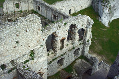 Walls of the ruined castle Royalty Free Stock Image