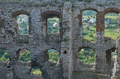Walls of the ruined castle Stock Photo