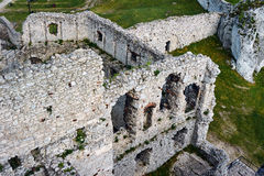 Walls of the ruined castle Royalty Free Stock Photos