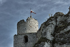The walls of the ruined castle Royalty Free Stock Photos