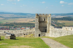 Walls of ruined medieval castle. Ruin walls of medieval castle royalty free stock image