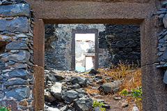 The walls ruins of a house Royalty Free Stock Photo