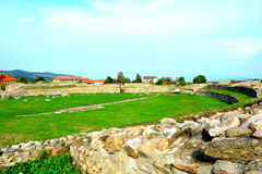 Walls and ruins in  Ulpia Traiana Augusta Dacica Sarmizegetusa Royalty Free Stock Images