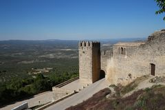 Walls of Sabiote, village of Jaen, in Andalusia. Southern Spain. It is one of the best places to see and visit in the town, for its beauty and history Royalty Free Stock Photo