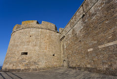 Walls of Saint-Malo Stock Photo