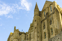 Walls of Saint-Michel abbey Royalty Free Stock Photo
