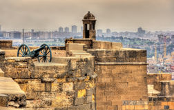 Walls of the Saladin Citadel of Cairo Royalty Free Stock Images