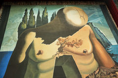Walls Salvador Dali Museum in Figueres stock photography