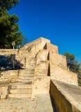 Walls of Santa Barbara Castle in Alicante, Spain Stock Photo