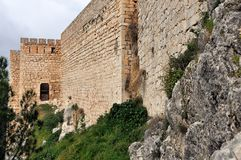 Santa Catalina Castle in Jaen, Andalusia, Spain Royalty Free Stock Photography