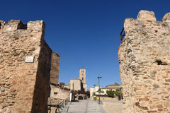 Walls and Santa Maria del Castillo Stock Photography