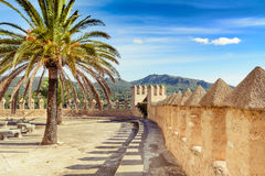 Walls of the Santuari de Sant Salvador Stock Images