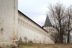 Walls. Savvino-Storozhevsky monastery. Zvenigorod, Russia. Stock Photos