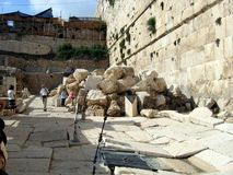 Walls of the Second Temple. Royalty Free Stock Image