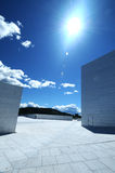 Walls and sky. Sunburst over the walls at Oslo Opera House Royalty Free Stock Images