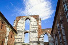 Only the walls and the sky, Siena. Stock Photo