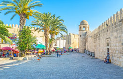 The walls of Sousse Stock Image