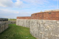 Southsea Castle, Hampshire. Walls of Southsea Castle in Hampshire, England stock images