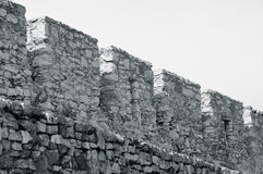 Walls of The Spisky Castle Royalty Free Stock Photos