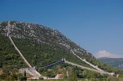 The walls of Ston, Croatia Royalty Free Stock Photography
