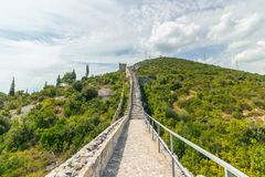 The Walls of Ston in Croatia Royalty Free Stock Image