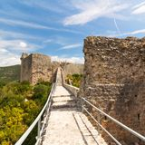 The Walls of Ston in summer day, Croatia, Stock Photo