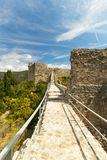 The Walls of Ston in summer day, Croatia, Royalty Free Stock Images