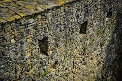 Walls of stone Stock Images