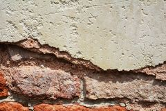 Wall, rifts on old antique Venetian walls Royalty Free Stock Photo