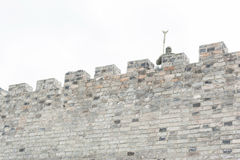 Walls of stone and guardian Royalty Free Stock Images