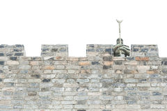 Walls of stone and guardian Stock Image
