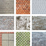 Walls and stones Royalty Free Stock Photo