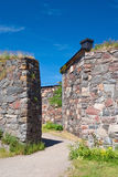 Walls of Suomenlinna Stock Photography