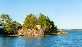 Walls of Suomenlinna, a sea fortress in Helsinki Royalty Free Stock Image