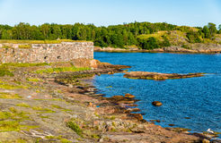 Walls of Suomenlinna, a sea fortress in Helsinki Royalty Free Stock Photography