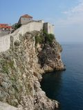 Walls surrounding Dubrovnik Stock Images