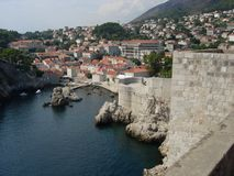Walls surrounding Dubrovnik Royalty Free Stock Images